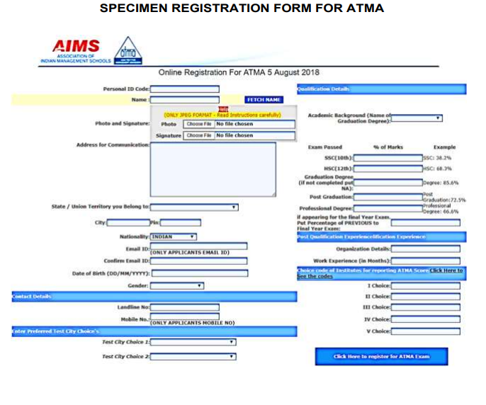 ATMA Registration 2019 (Extended) – Apply Online for July Exam