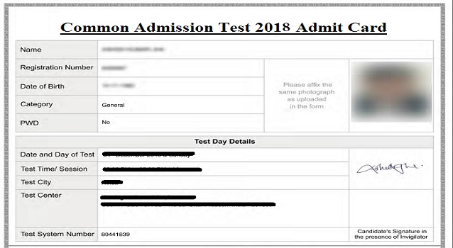 CAT Admit Card 2019, Hall Ticket – Check Download Date