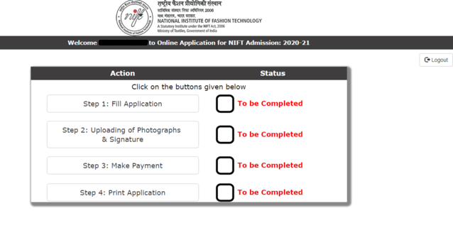Nift 2020 Registration Application Form Open Apply For Nift Entrance Exam