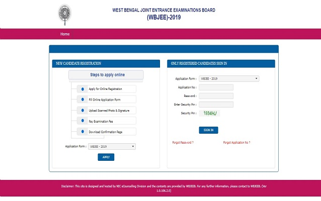 WBJEE 2019 Seat Allotment Result (Declared), Cut off
