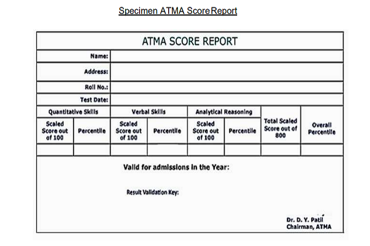 ATMA Result 2019 for July Session (Announced)- Check