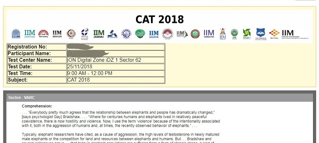 CAT Answer Key 2019 - Download Official Answer Key and