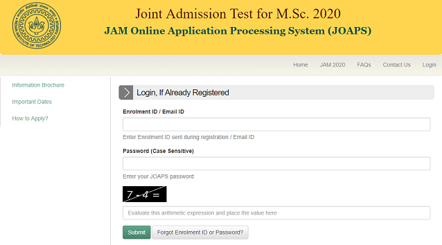IIT JAM 2020 Application Forms (Released) - Apply Here!