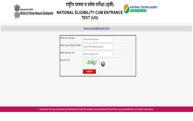 Neet 2020 Result Today Check Nta Neet Result Time Link