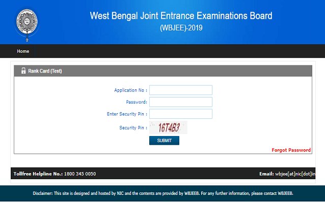 WBJEE Result 2019, Score (Declared) – Download Rank Card Here